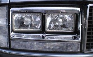 Volvo 262C koplamp close up
